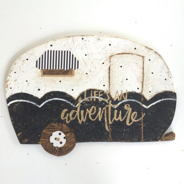 Love this wood camper sign! Cutest etsy shop decor!