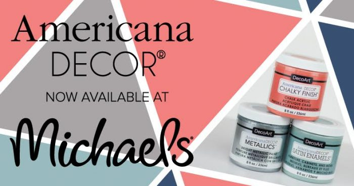 Your favorite DecoArt Americana paint is available at Michaels Stores! Click through for a gorgeous hutch makeover using Americana Satin Enamel Paint.