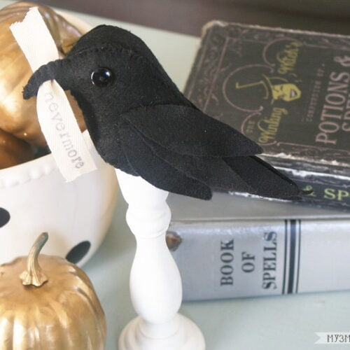Poe-Inspired Raven Halloween Decor