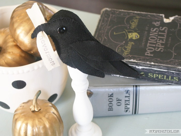 Poe-Inspired Raven Halloween Decor
