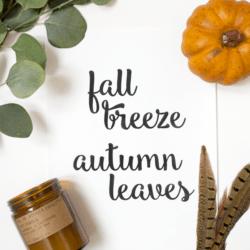 Fall Breeze Autumn Leave free printable
