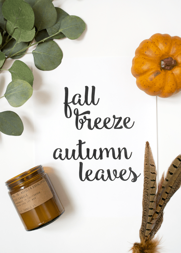 Fall Breeze Autumn Leave free printable
