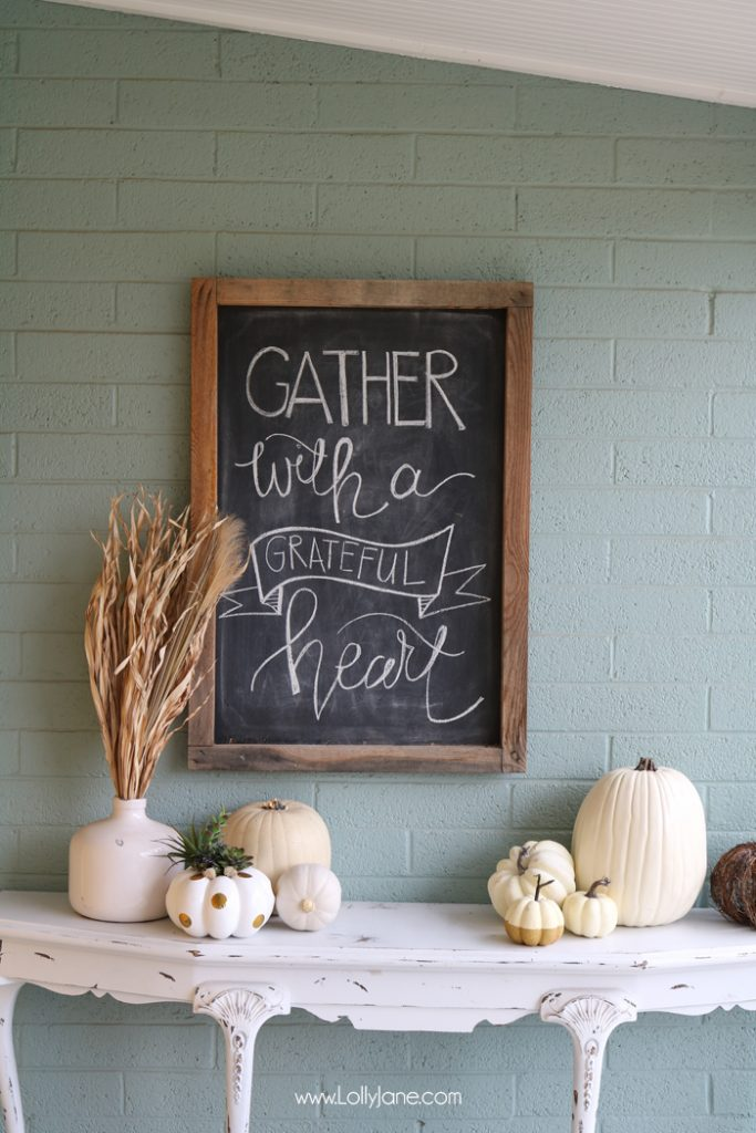 Easy Autum Porch Ideas, shared by Lolly Jane at The Chicken Chick's Clever Chicks Blog Hop