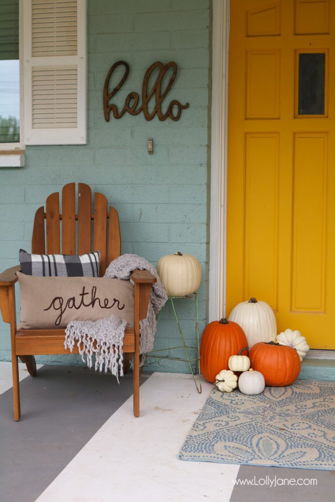 photograph relating to Printable Fall Decorations referred to as Simple tumble porch tips + printable