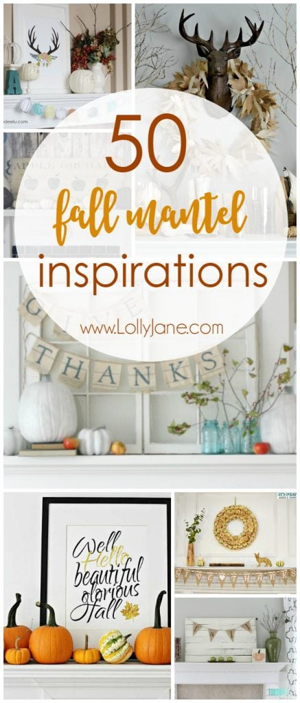50 Fall Mantel Inspirations