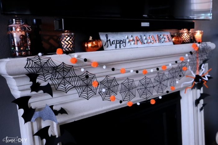 Fun colorful Halloween mantel!