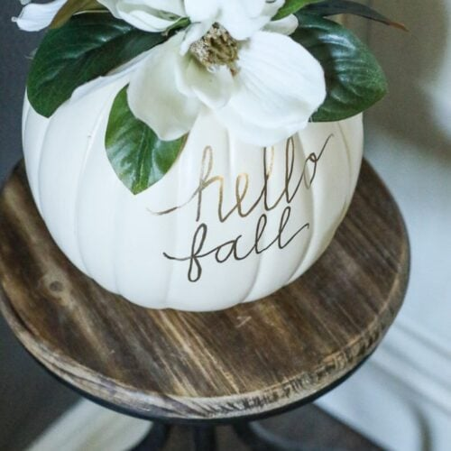 DIY Magnolia Pumpkin