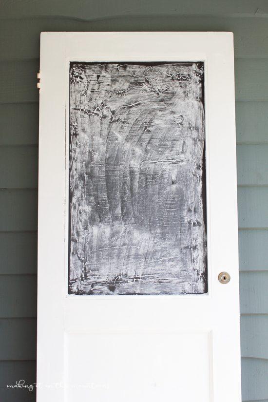 Antigue Door Chalkboard : Diy vintage door chalkboard lolly jane
