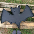 DIY Bat Marquee with FREE Bat Silhouette, perfect for Halloween!