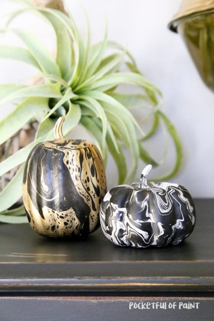 DIY Marbelized Pumpkins
