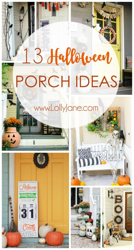 13 Halloween porch ideas. Love these outdoor Halloween decor ideas, so festive! Easy to implement Halloween decor!