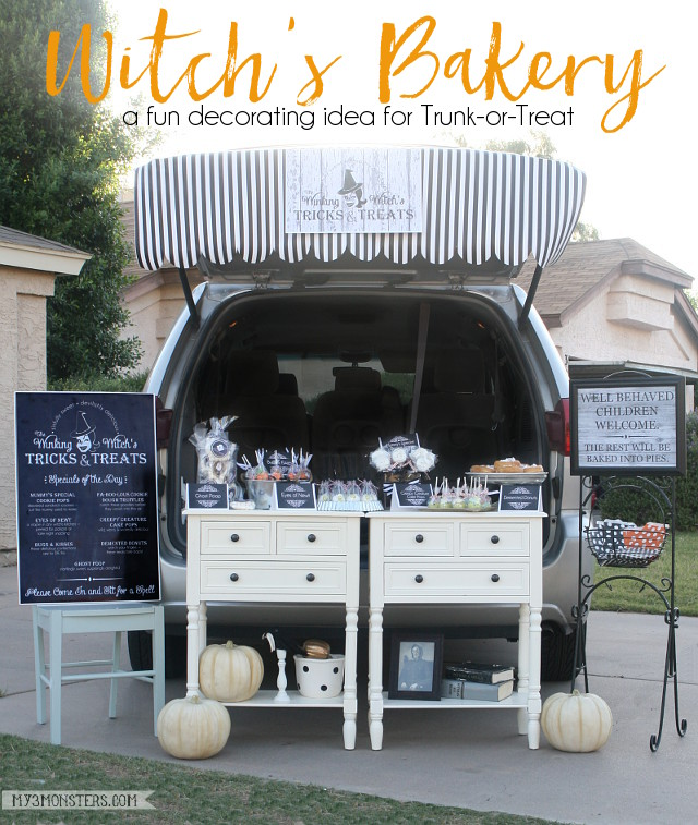 Witch's Bakery Trunk-or-Treat, so cute!!!