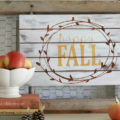 DIY Happy Fall Pallet Sign | See how easy it is to make this cute Happy Fall wood sign! Love this easy fall decor idea!
