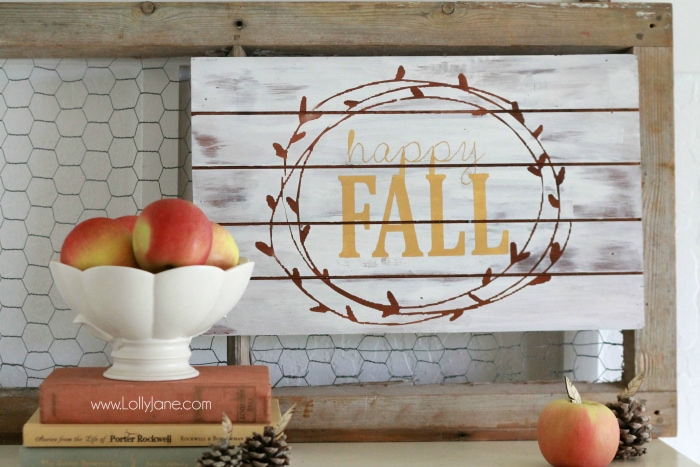happy fall sign