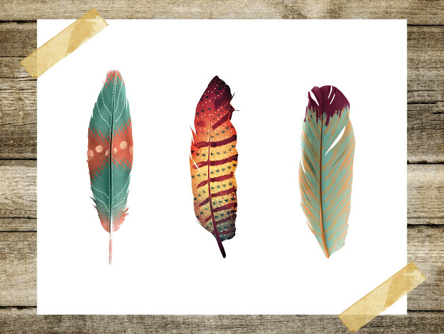 free fall feathers printable art