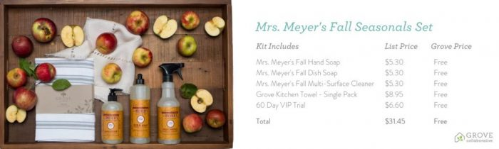 Welcome Fall with Mrs. Meyer's Apple Cider & Mum Seasonal Scents