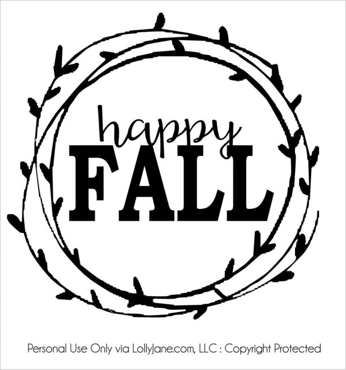 Happy falll cut file | Lolly Jane, LLC | Personal use only Use this cut file to create a fall pallet art sign, such a cute fall home decor idea!