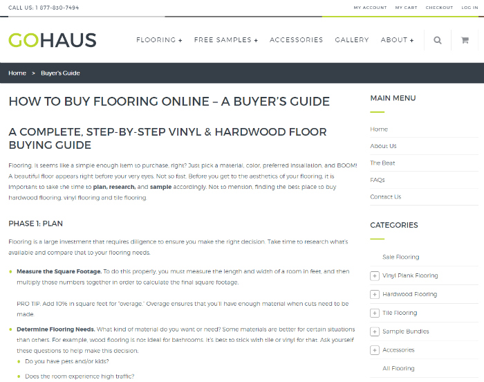 How to buy flooring online. Start with ordering samples from GoHaus! Easy flooring purchase, great customer service.