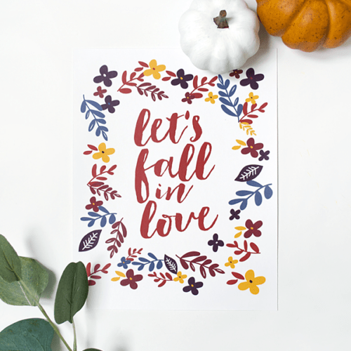 Let's Fall in Love free printable