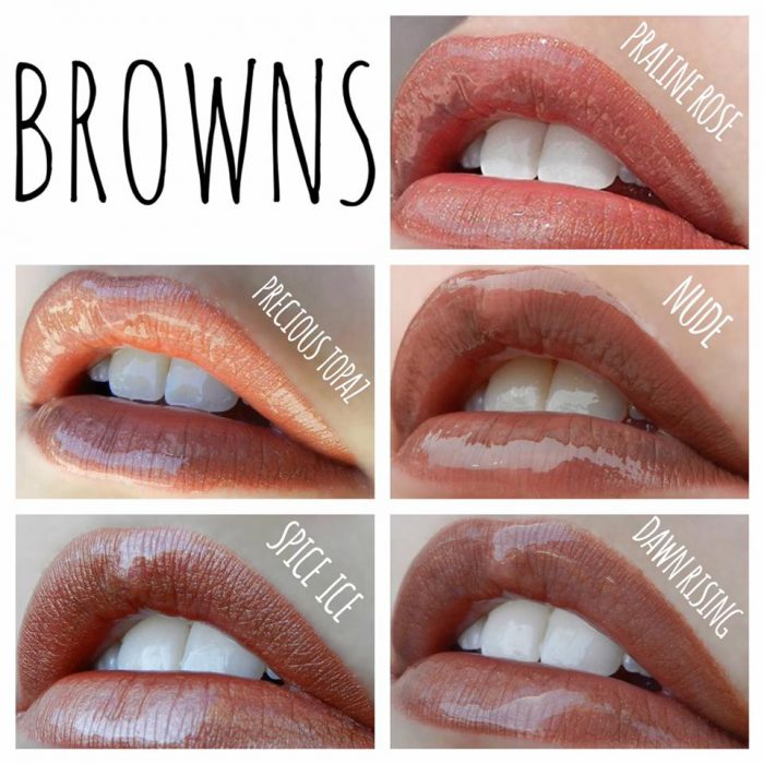 LipSense Color Chart - Brown Lipstains Lolly Lips