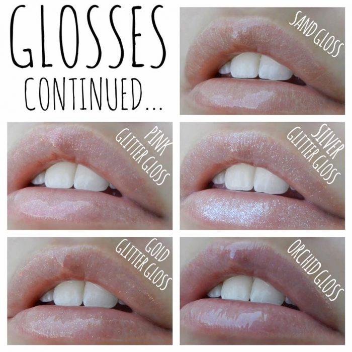 LipSense Color Chart - Lolly Lips GLOSSES