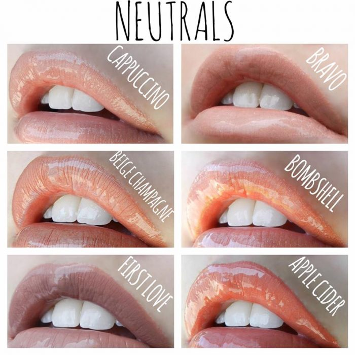 LipSense Color Chart- neutral lipstain | Lolly Lips