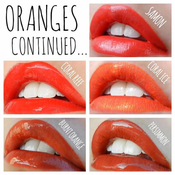 LipSense Color Chart Orange Lipstains | Lolly Lips