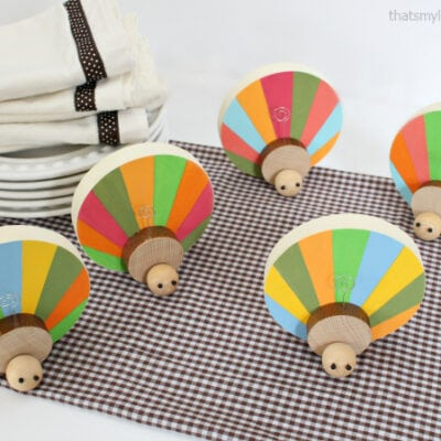 DIY Wood Turkey Place Card Holders