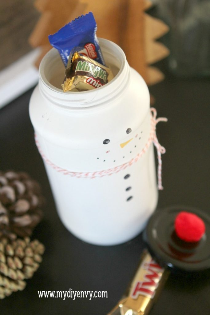 Thought On Thanksgiving >> DIY Candy Jar Snowman - Lolly Jane