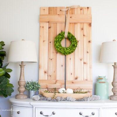 DIY cedar shutters tutorial