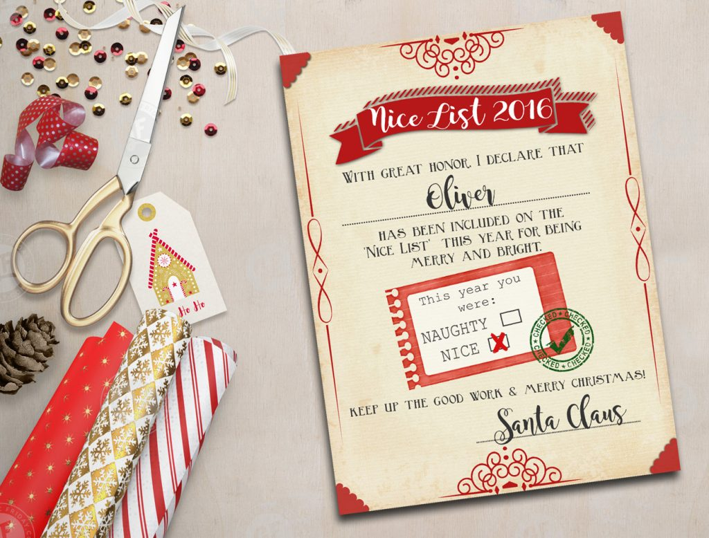 CUTE!! Kids will love this FREE printable naughty-or-nice list you ...