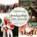 Christmas family pictures with animals ideas! Love all these family pictures with pets, such a fun way to include your pet in your Christmas pictures!