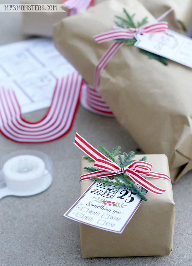 Love these Christmas printable gift tags!