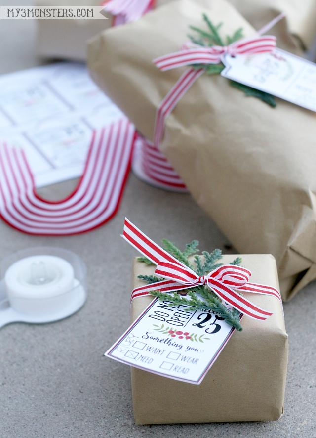 Love these Christmas printable gift tags!