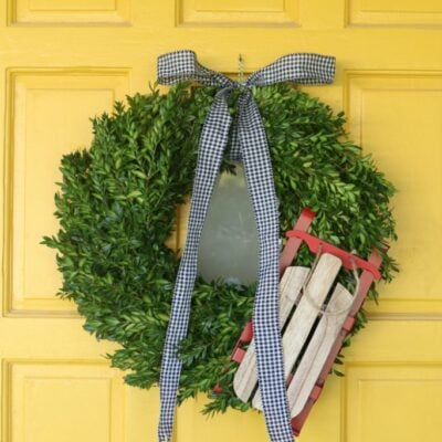 diy sled wreath