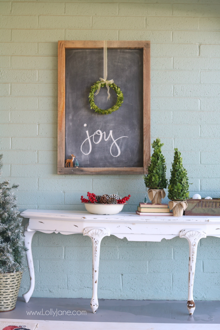 farmhouse Christmas porch Lolly Jane