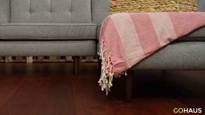 Love these wood floors from GoHaus. Click through for tips to selecting expert online flooring.