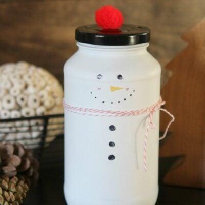 DIY Candy Jar Snowman