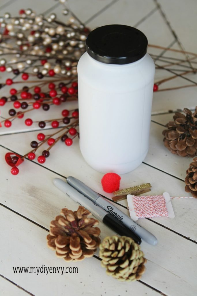 Diy Candy Jar Snowman Lolly Jane