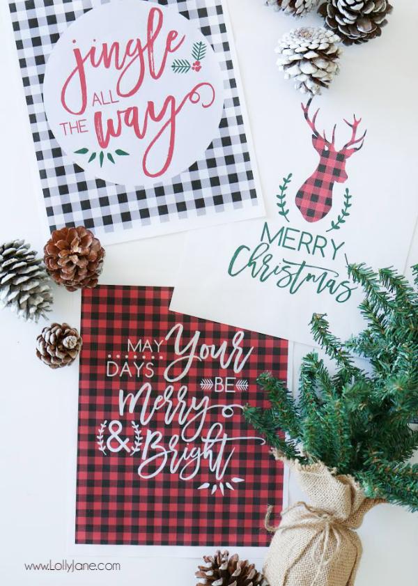 all things christmas printable bundle