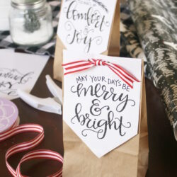 Handlettered Holiday Treat Bags