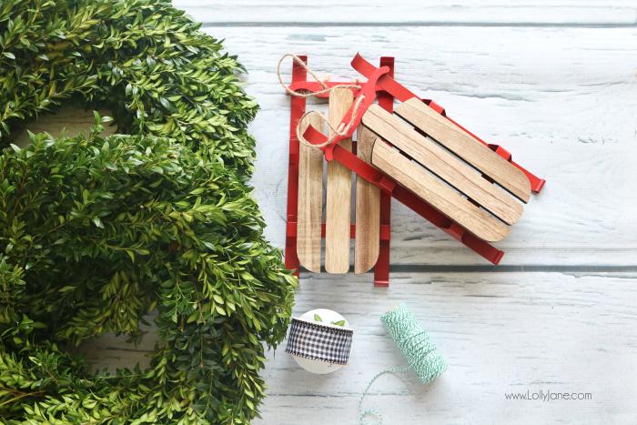DIY Sled Wreath