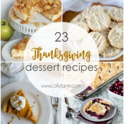 23 Thanksgiving Dessert Recipes