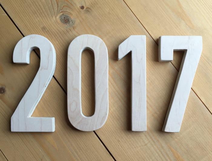 DIY 2017 New Years Wall Decor