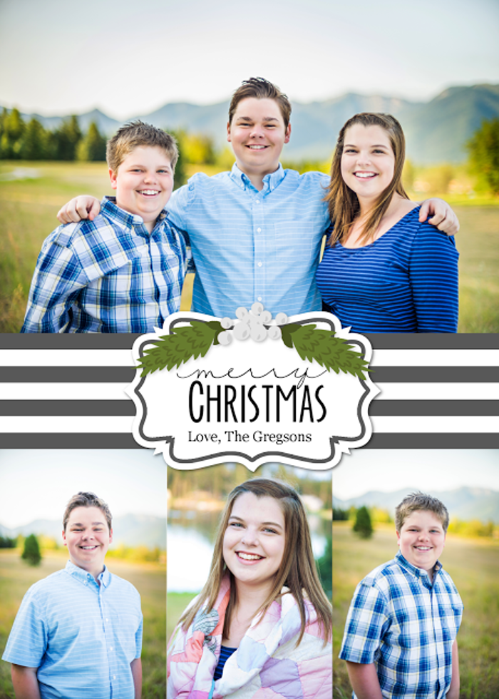 Love this Christmas card template from @my3monsters