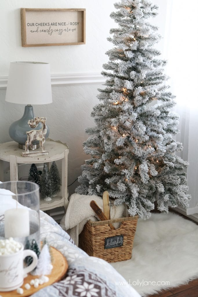farmhouse Christmas bedroom retreat ideas