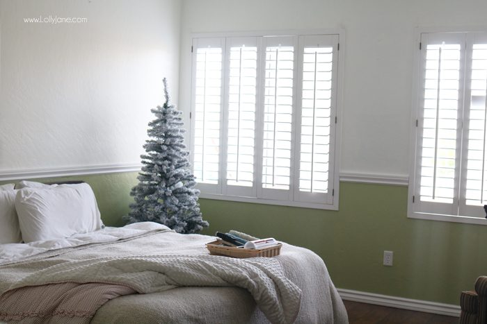 """Cozy Christmas Master Bedroom... click to see the beautiful """"after"""" all decked out!"""