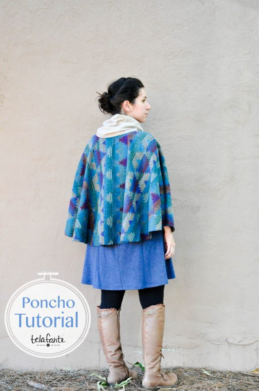 DIY Half Poncho tutorial