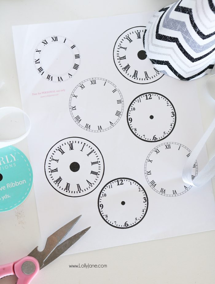 Make your own NYE Party Hats and print + cut these out to stick on the front. Set your own time, so fun and easy!!