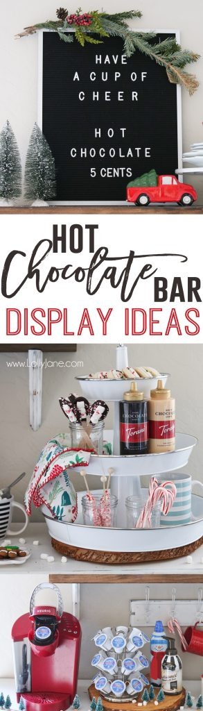Hot Chocolate Bar Ideas, cute!!